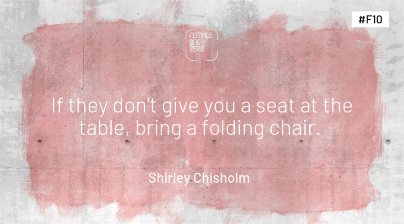 Shirley Chisholm female empowerment quotes